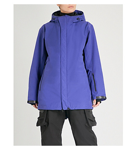 TEMPLA 3L Macra cotton-blend ski coat (Blue