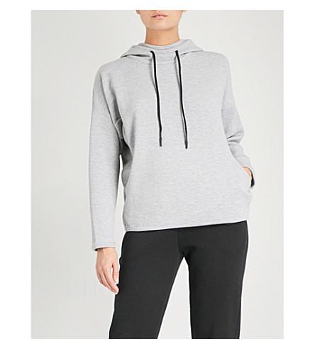 TEMPLA Crinkle stretch-jersey ski hoody (Grey+marle