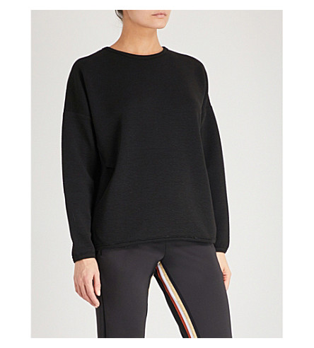 TEMPLA Cocoon stretch-jersey sweatshirt (Black