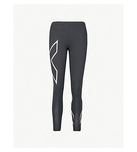 2XU X-print compression leggings (Black windosme orchid