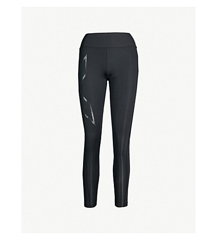 2XU Mid-rise compression leggings (Black galaxy black