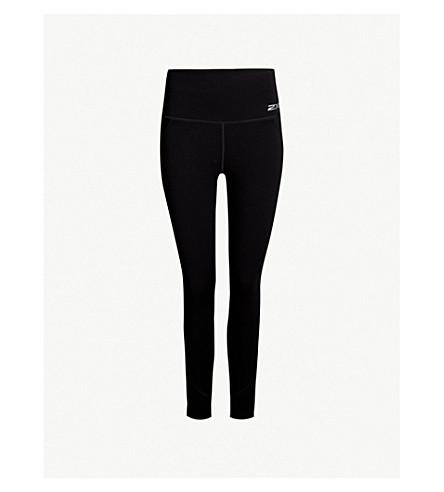 2XU Drawstring-waist slim-fit compression leggings (Black/black