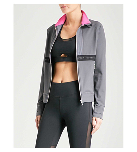 BODY BY BYRAM Aphrodite slim-fit jacket (Grey+fuschia
