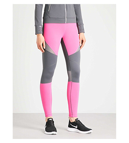 BODY BY BYRAM Nyx panelled leggings (Grey+pink