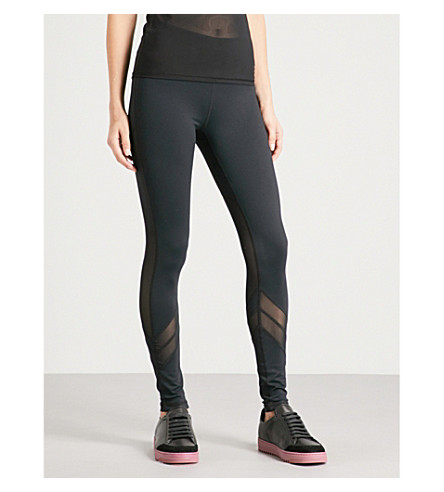 BODY BY BYRAM Electra mesh jersey leggings (Black