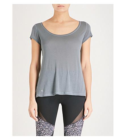 BODY BY BYRAM Rhea cotton-blend T-shirt (Grey