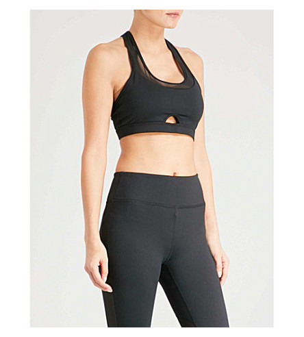 BODY BY BYRAM Iris stretch-jersey sports bra (Black