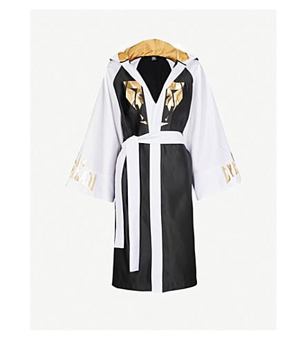 NICOLA ADAMS X EVERLAST Logo-print satin robe (Multi