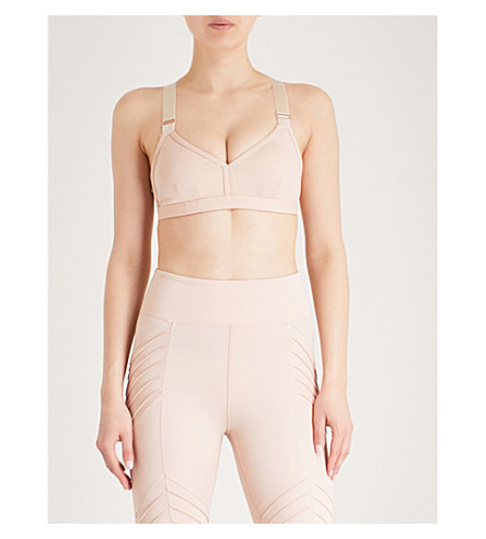 LURV Light Years stretch-jersey sports bra (Blush