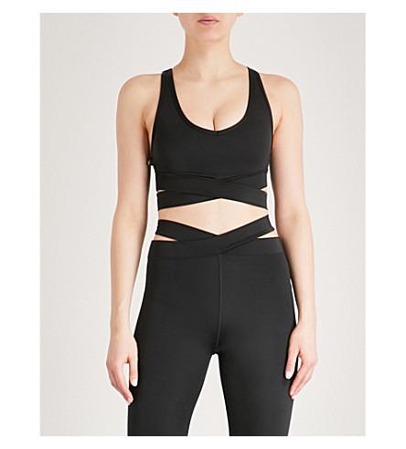 LURV Evolution stretch-jersey sports bra (Black