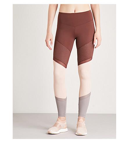 LURV Time and Space mesh-panel leggings (Rust/blush