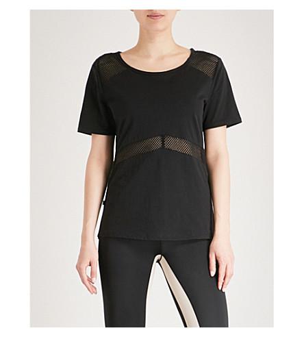 LURV Fresh Air mesh-panel cotton-jersey T-shirt (Black