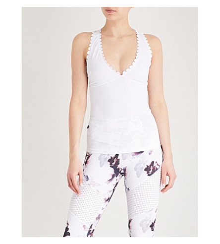 LURV I'm On Clouds stretch-jersey top (White