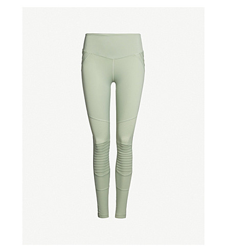 LURV Above The Clouds high-rise stretch-jersey leggings (Mint