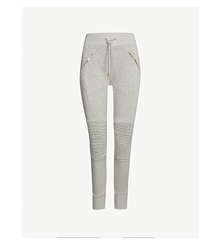 LURV The Fast Lane skinny stretch-jersey trousers (Light grey