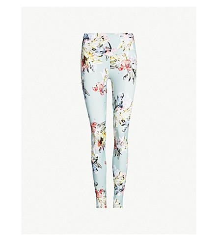 LURV Lily floral-print high-rise stretch-jersey leggings (Mint