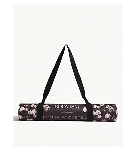 rosa Wickstead yoga x CUERPO Estera Bodyism Liv Negro floral de Emilia 6wUwvt