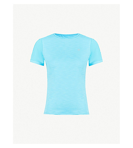 ELEVEN BY VENUS Tracer stretch-jersey T-shirt (Blue+attol