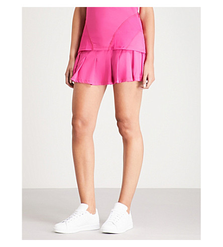 ELEVEN BY VENUS Flutter pleated jersey skirt (Eleven+berry