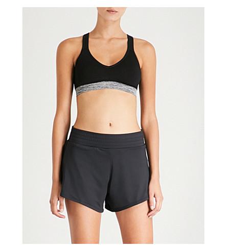 ELEVEN BY VENUS Seamless Parallel stretch-jersey bra (Black