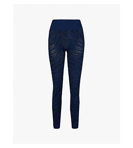 LAAIN Karina stretch-jersey leggings (Navy+black