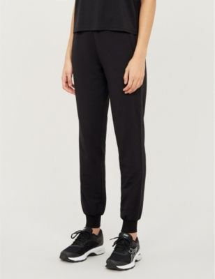 Monroe tapered cropped stretch-jersey jogging bottoms