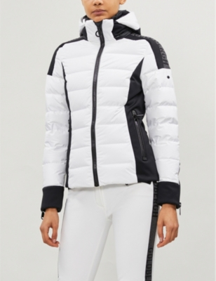 Almeta paneled shell-down coat