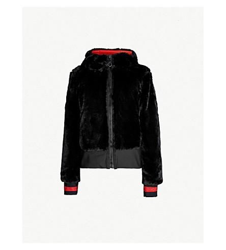 GOLDBERGH Akemi reversible faux-fur and shell jacket (Black