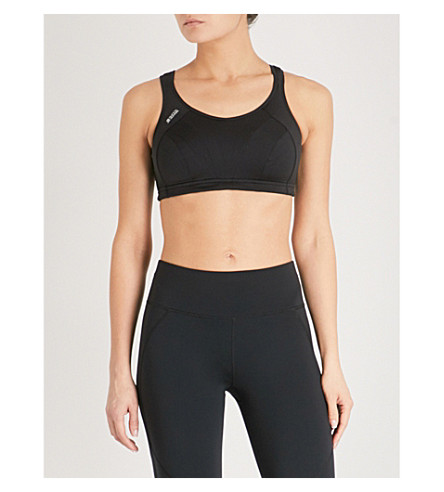 SHOCK ABSORBER Active Multi stretch-jersey sports bra (Black