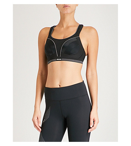 SHOCK ABSORBER Ultimate Run stretch-jersey sports bra (Black