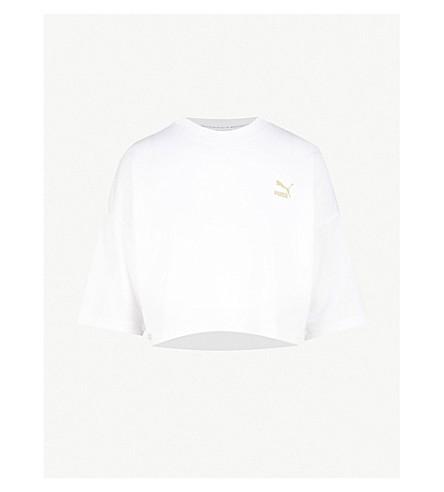 PUMA 复古平纹针织面料 T 恤 (美洲狮白