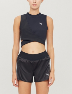 Chase crossover stretch crop top