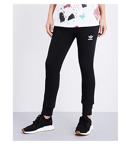 ADIDAS ORIGINALS Slim cotton-jersey jogging bottoms (Black