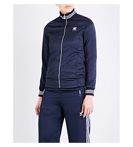 ADIDAS ORIGINALS 3-Stripes satin track jacket (Legend+ink+s10