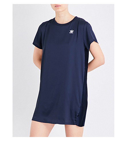 ADIDAS ORIGINALS Trefoil Tee satin dress (Legend+ink+s10