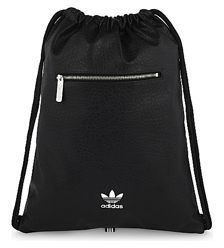 ADIDAS ORIGINALS Trefoil faux-leather extra-large drawstring backpack (Multicolor