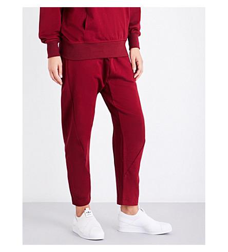 ADIDAS ORIGINALS Xbyo cotton-jersey jogging bottoms (Collegiate+burgundy