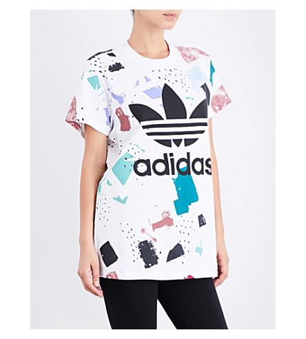 ADIDAS ORIGINALS Colour DAB cotton-jersey T-shirt (Multicolor