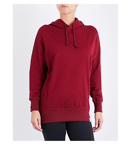 ADIDAS ORIGINALS XBYO cotton-jersey hoody (Collegiate+burgundy