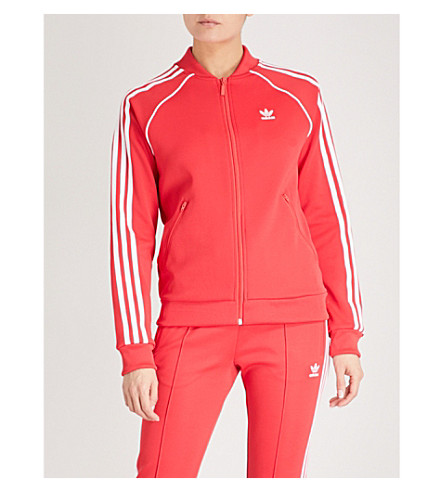 ADIDAS ORIGINALS SST jersey bomber jacket (Radiant+red