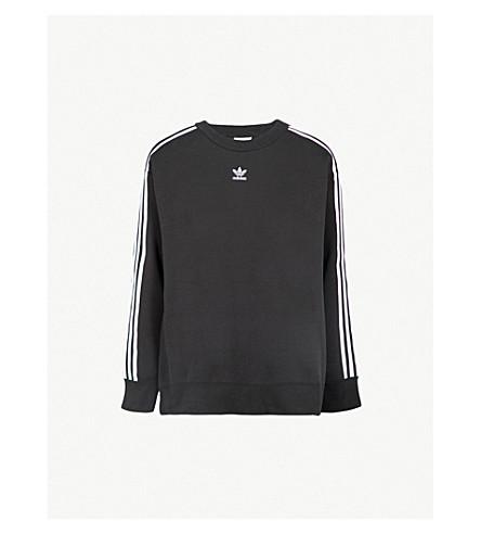ADIDAS ORIGINALS Logo cotton-blend sweatshirt (Black