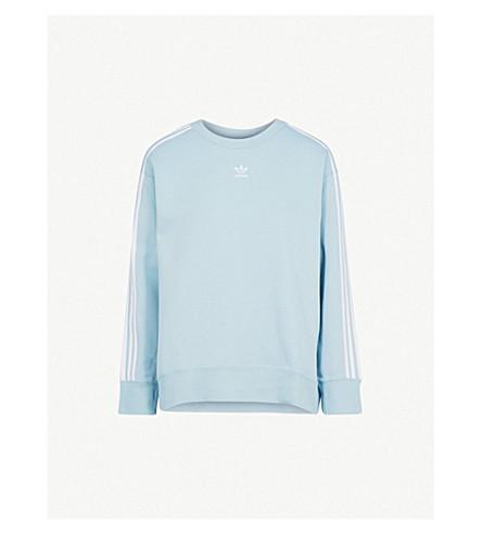 ADIDAS ORIGINALS Logo cotton-blend sweatshirt (Ash grey s18