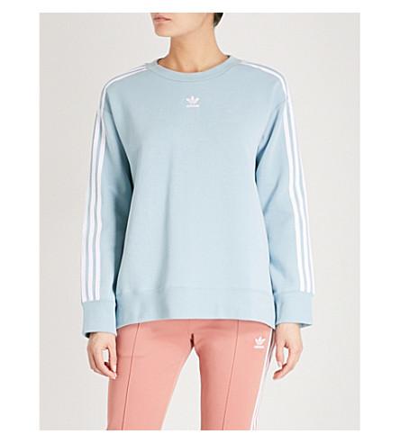ADIDAS ORIGINALS Logo cotton-blend sweatshirt (Ash+grey+s18