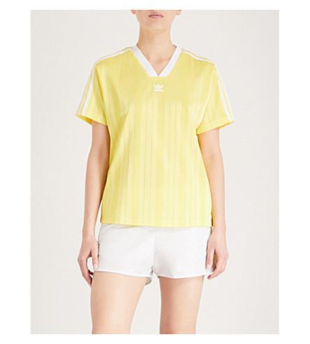 ADIDAS ORIGINALS Fashion League woven T-shirt (Prime+yellow