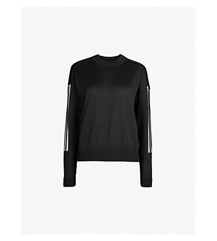 ADIDAS PERFORMANCE Crewneck cotton-jersey sweatshirt (Black