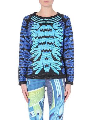 ADIDAS X MARY KATRANTZOU Perforated graphic-print sweatshirt