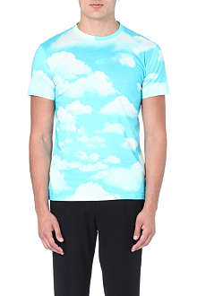MOSCHINO Sky print cotton t-shirt