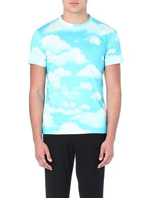 MOSCHINO Sky print cotton t-shirt