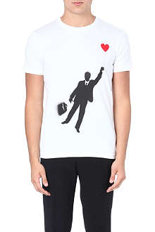 MOSCHINO Balloon man cotton t-shirt