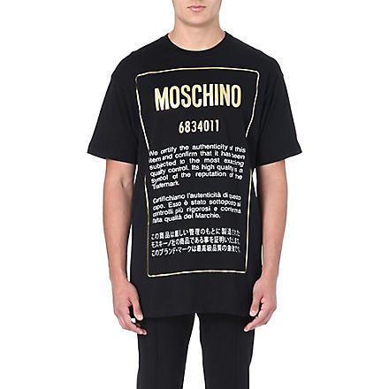 MOSCHINO Authentic cotton t-shirt (Black